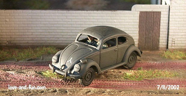 VW Typ 60, 1:72 Automodell Military Wheels