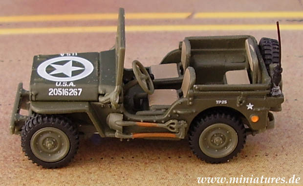 Willy�s Jeep, 1:72 Automodell Hongwell